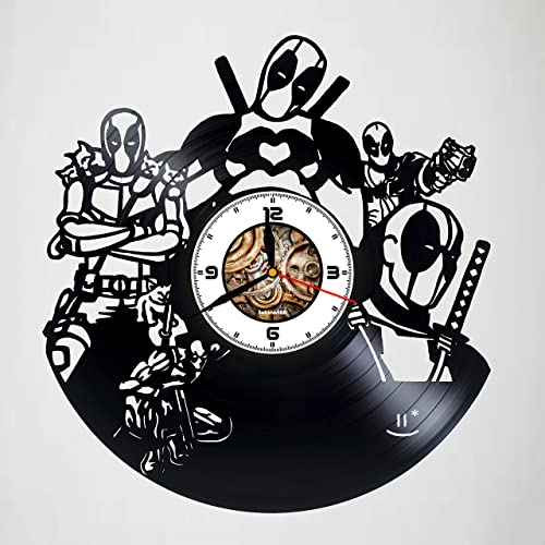 Amazon Com Deadpool Action Figure Vinyl Wall Clock Handmade