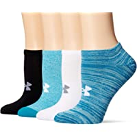 Under Armour Womens Essential No Show Socks 4 Pairs