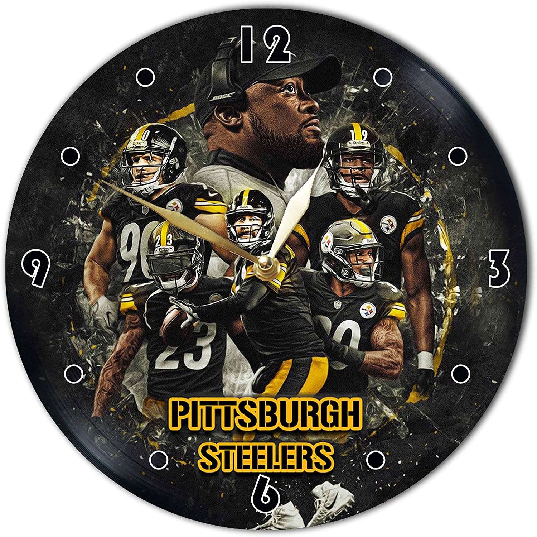 Pittsburgh Vinyl Clock 12
