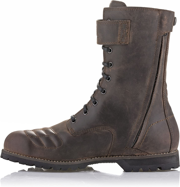 Alpinestars Mens Oscar Firm DRYSTAR Leather Waterproof Motorcycle Boot Oiled Brown 10