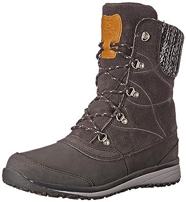 Salomon Women s Hime Mid Leather CSWP Winter Wear Shoe Asphalt