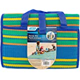 Camco Handy Mat with Strap, Perfect for Picnics, Beaches, RV and Outings, Weather-Proof and Mold- Mildew Resistant (Blue/Gree