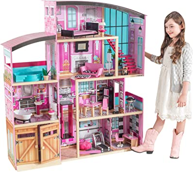 My Dream Mansion Doll House Furniture Dolls Dollhouse Set Kids Girls  Play New