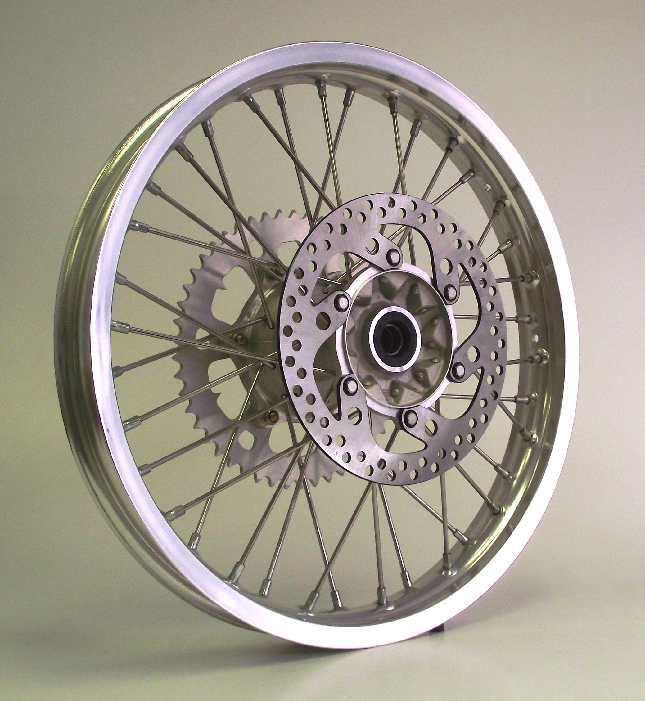 00-08 XR650R XR 650R Honda Rear Wheel 18x2.15 Rim w/ Sprocket & Disk 18''