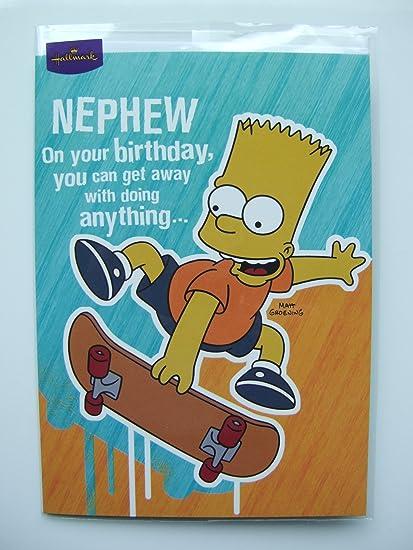 Amazon Simpsons Birthday Card For A Nephew Any Age By Hallmark