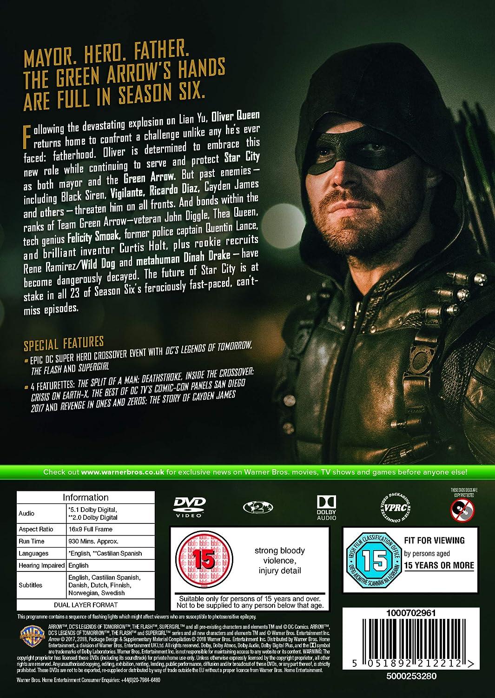 1e8fdf456de29f Arrow  Season 6  DVD   2018   Amazon.co.uk  James Bamford  DVD   Blu-ray