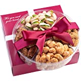 Mothers Day Nuts Gift Basket - Fresh Sweet & Salty Dry Roasted Gourmet Nuts Gift Basket - Food Gift Basket for Christmas, Tha