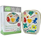 Mini Travel First Aid Kit - Compact Zippered Pouch with Strap, Perfect for Purse, Diaper Bag, Stroller, Backpack & Baby Shower Gift, Latex-Free Supplies, Limited TIME Bonus Mini Size Bandages!