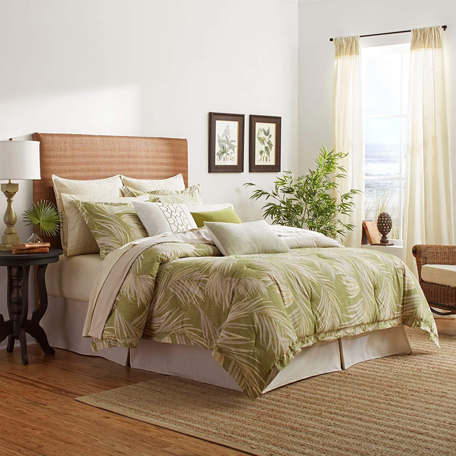 Tommy Bahama Canyon Palms Comforter Set, Queen, Green