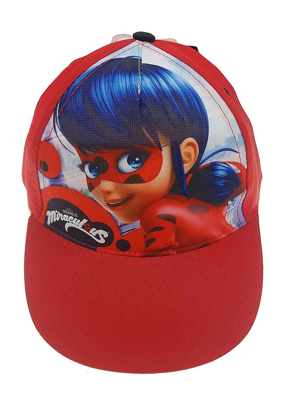 Cappello Ladybug Miraculous Bambina Misura Regolabile Colore Rosso da 50 a 58 Diametro