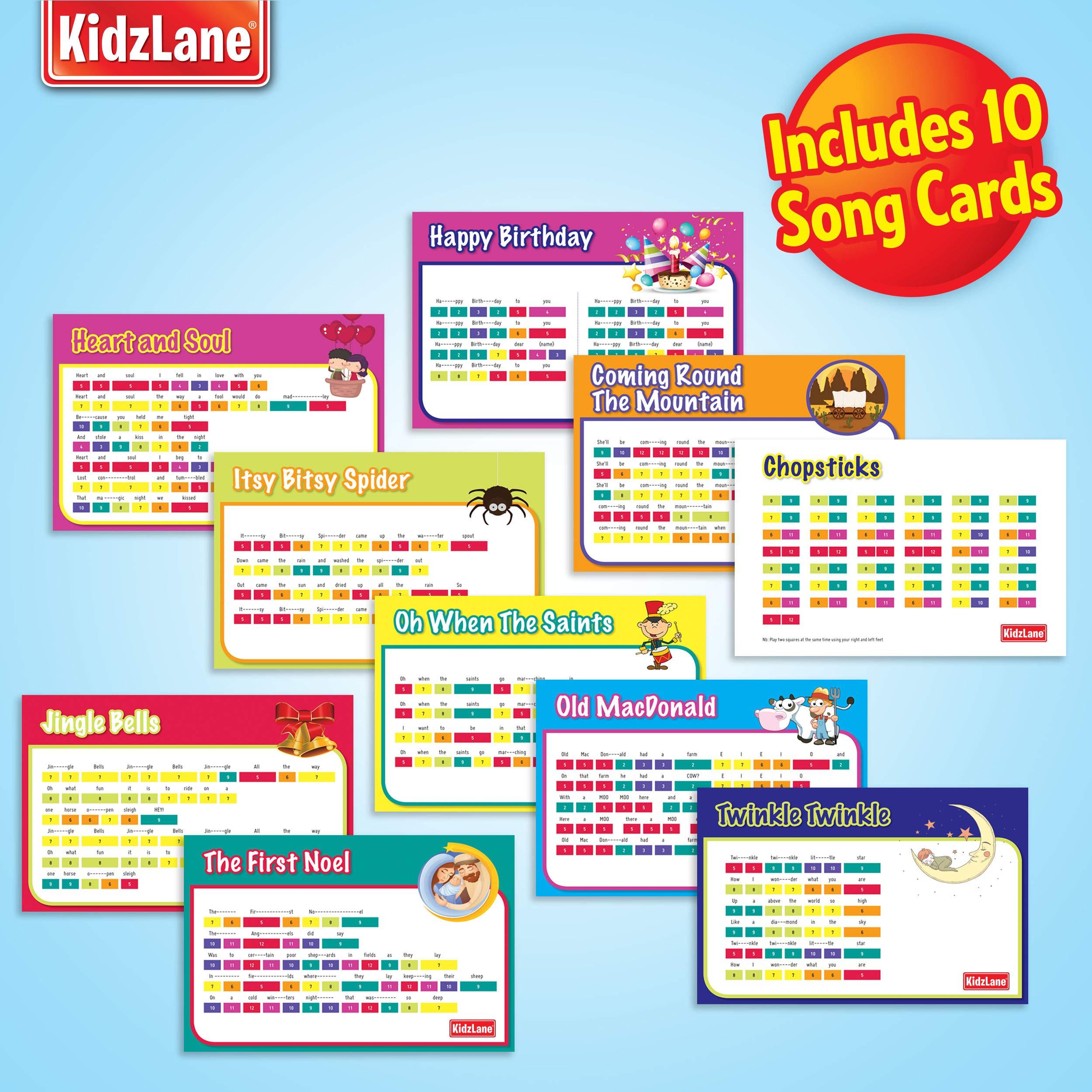 Kidzlane Floor Piano Mat: Jumbo 6 Foot Musical Keyboard Playmat for Toddlers and Kids by Kidzlane (Image #4)