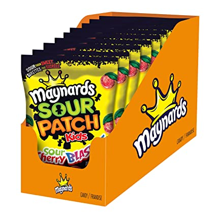 Amazon Com Maynards Sour Patch Kids Sour Cherry Blasters 185g 9 Count Imported From Canada Grocery Gourmet Food