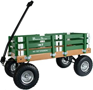 "Berlin Flyer Sport Wagon - Model F410 - Amish Made in Ohio, USA - 10"" No-Flat Tires (Emerald Green)"