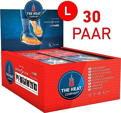 XL Talla: 44-46 calor instant/áneo THE HEAT COMPANY Plantillas Calentadoras aire activado 8 horas de calor EXTRA C/ÁLIDO 30 pares puro natural