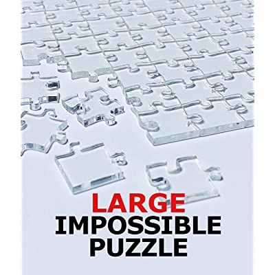 Large! Large! 360 Pieces Clear Jigsaw Puzzle - Clear Puzzle - Puzzle for Adults - Very Difficult and Fun! - Durable Clear Acrylic - Waterproof!: Toys & Games