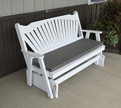 Amazon Com Aspen Tree Interiors Porch Glider Bench With Fanback
