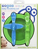 oogaa Baby Mealtime Set Easy Clean, Baby Safe Green and Blue