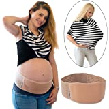 Heabres Maternity Support Belt & Baby Breastfeeding Cover ScarfSet | Breathable Belly Band For Pregnancy and Postpartum Abdominal Binder For Back, One-Size