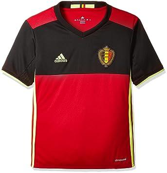 adidas UEFA Euro 2016 Belgique Maillot domicile manches courtes
