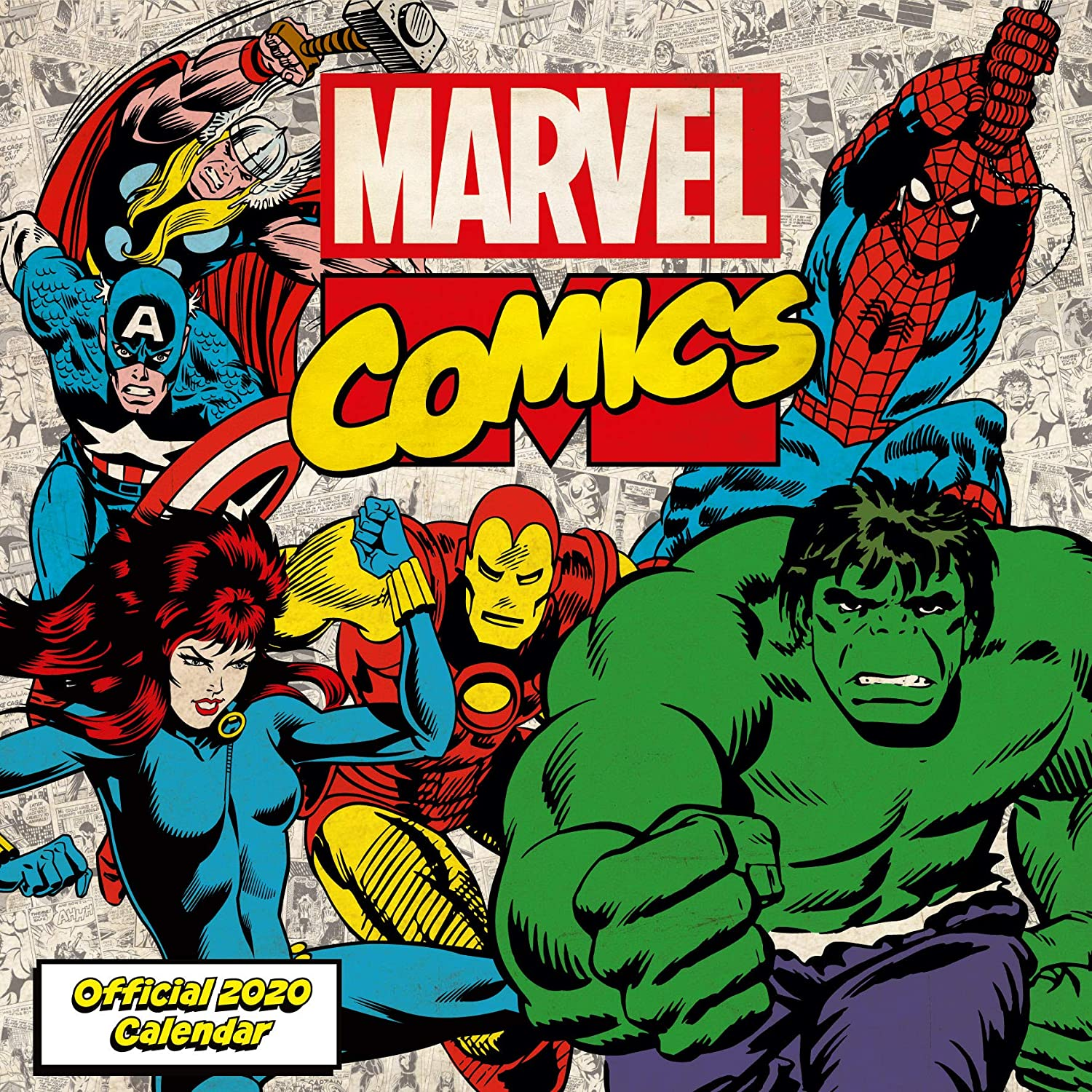Marvel Comics 2020 Calendar - Official Square Wall Format Calendar