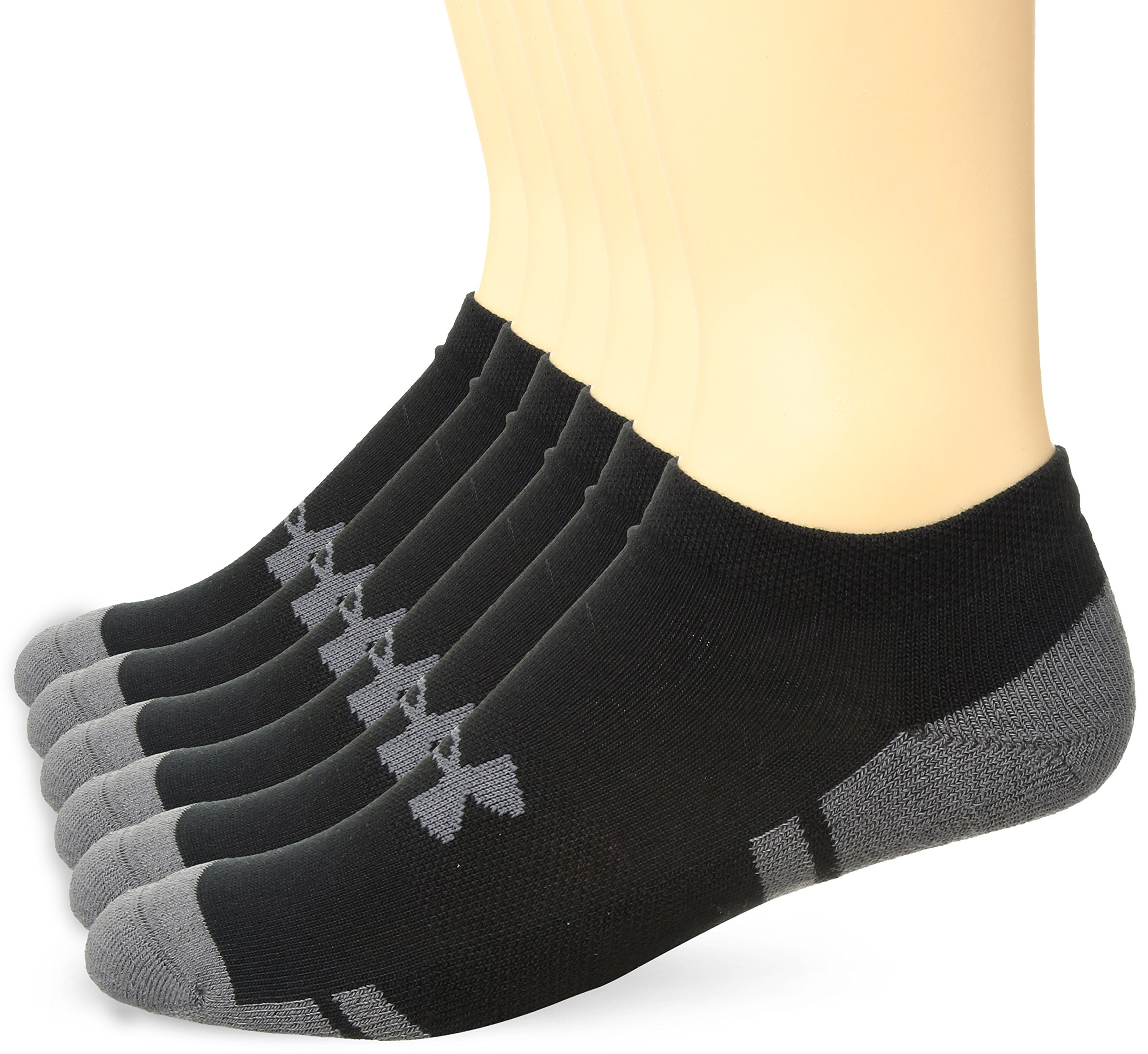 Under Armour Men's Resistor 3.0 No Show Socks, Large, Black/Graphite