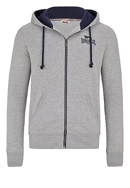 Lonsdale Chaqueta Chatt Extremos Men - Jersey con capucha cremalleras Marl Grey: Amazon.es: Ropa y accesorios