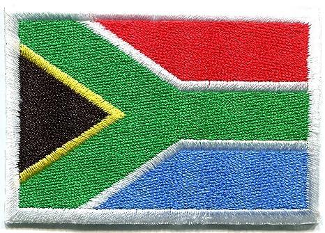 Bandera de Sudáfrica africana bordado Applique Iron-on Patch. Pasa ...