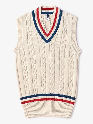 Mc Lauren Cricket Vest 1118-343-3884: Off White