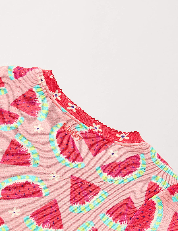 Hatley Organic Cotton Short Sleeve Appliqu/é Pyjama Sets Pigiama Bambina