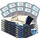 Quart 5 Mil Premium Century Mylar bags with 300cc oxygen absorbers in 10-packs (100) with PackFreshUSA LTFS Guide
