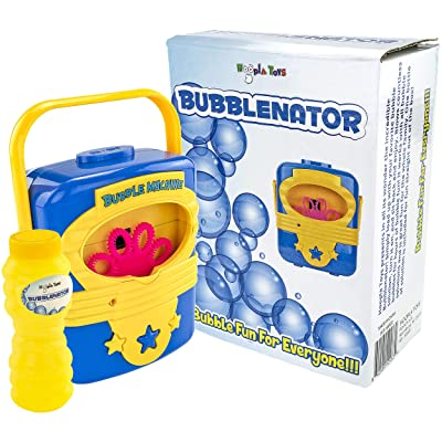 Hoopla Toys HT-10003 Bubblenator Bubble Blower Battery Powered Machine Kids Toy: Toys & Games