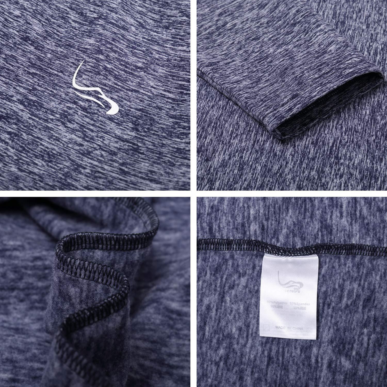 EAGEGOF Long Sleeve Mens Tech Sportswear 1//4 Zip Pullover