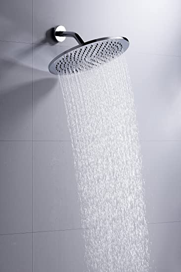 100% METAL 12 Inch Rain Shower Head With 2.5 GPM High Pressure Rainfall  Spray |