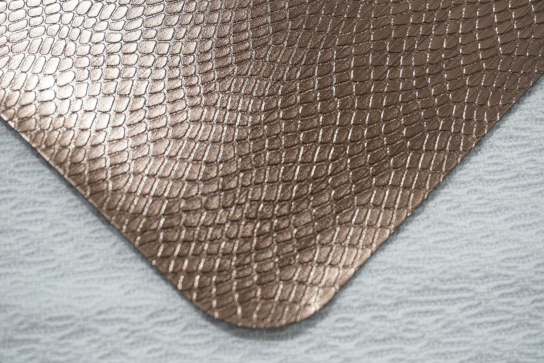 12x18 Champagne Dainty Home 4CS1218CH Crocodile Skin Metallic Effect Placemat Set of 4