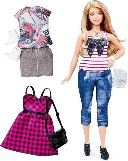 "BRAND NEW! fits regular or curvy Barbie dolls Black N/"" White DRESS for Barbie"