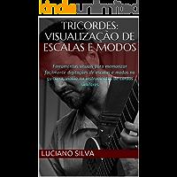 Tricordes: visualização de Escalas e Modos: Ferramentas visuais para memorizar facilmente digitações de escalas e modos na guitarra, violão ou instrumentos de cordas similares