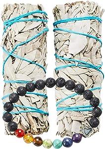 JL Local White Sage Smudge Sticks Bundles Gift Set - California Sage - Smudging & Cleansing Wands (2 Pack)