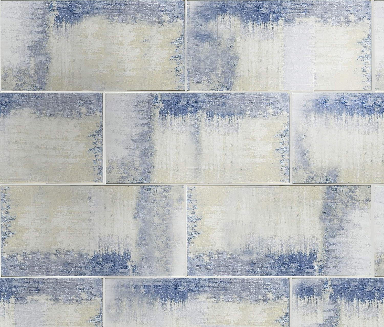 Abolos 4 x 8 Calacatta White Glossy Glass Subway Nature Stone Look Backsplash Wall Tile
