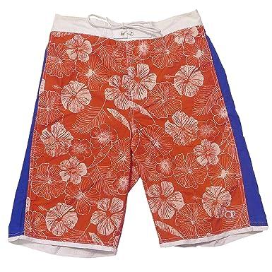 74fe0fc892 Ocean Pacific Mens OP Hibiscus Hawaiian Summer Shorts Blue -Grey-Coral-  Medium: Amazon.co.uk: Clothing