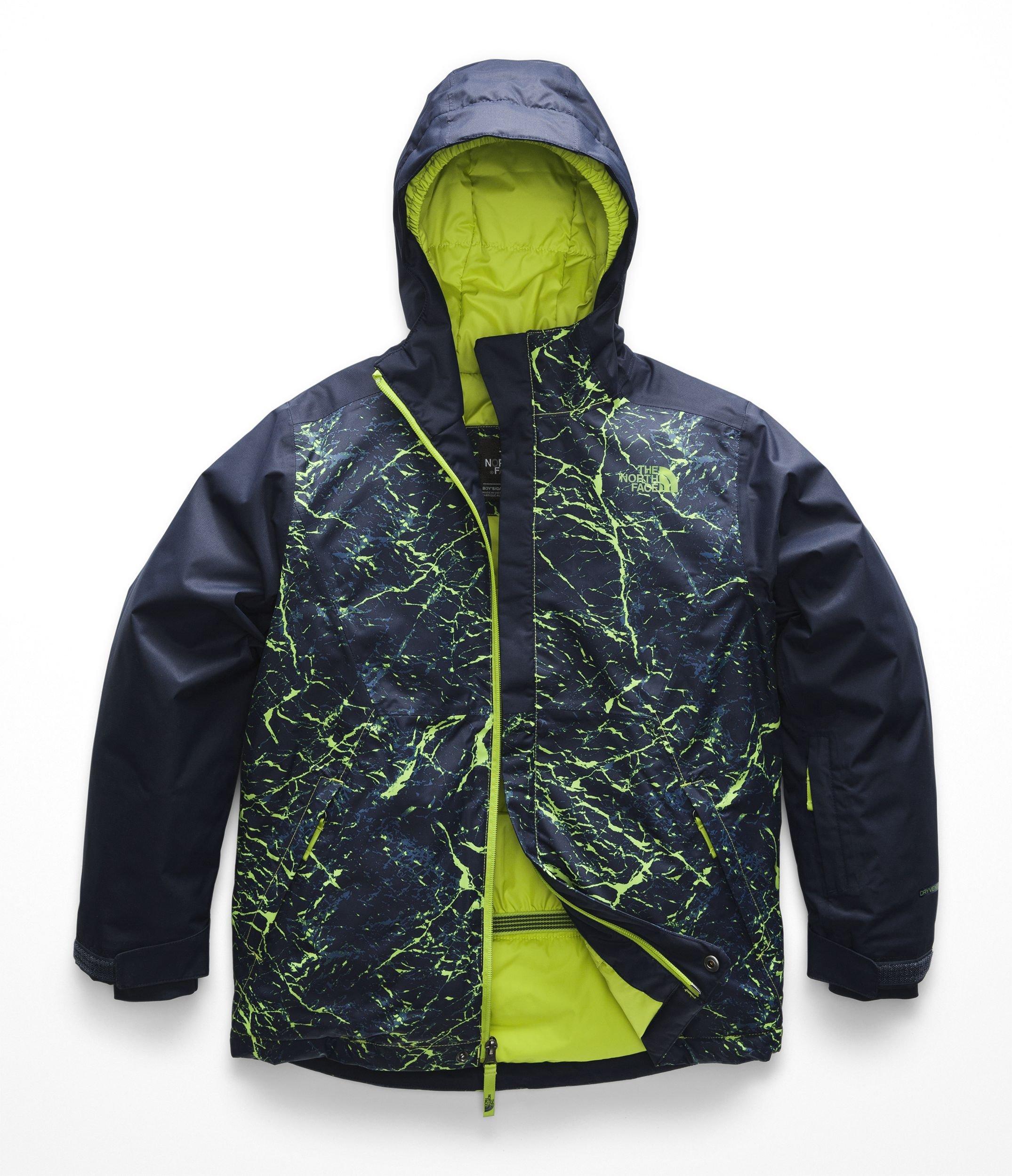 The North Face Kids Boy's Brayden Insulated Jacket (Little Kids/Big Kids) Lime Green Granite Print X-Large