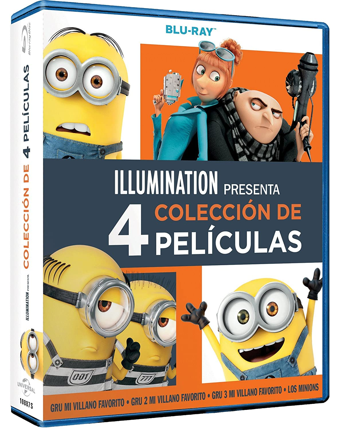 Pack: Gru 1-3 + Minions [Blu-ray]: Amazon.es: Steve Carell ...