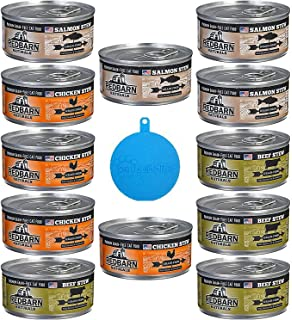 RedBarn Naturals Grain Free Canned Cat Food Stew in 3 Flavors – Salmon, Chicken,