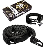 Traditional 2-Point 550 Paracord Rifle Sling | Two Point Gun Shoulder Strap | Durable & Adjustable | Bonus Survival Bracelet | Ideal For Tactical Shooting, Hunting& Emergency Situations