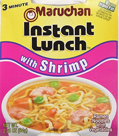 Amazon Com Maruchan Instant Lunch With Shrimp 24 Count Noodle