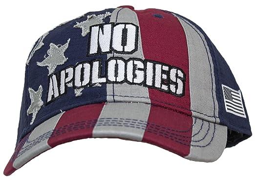 597f675efec Amazon.com  Patriotic USA Flag  No Apologies  Snap Back Baseball Cap ...