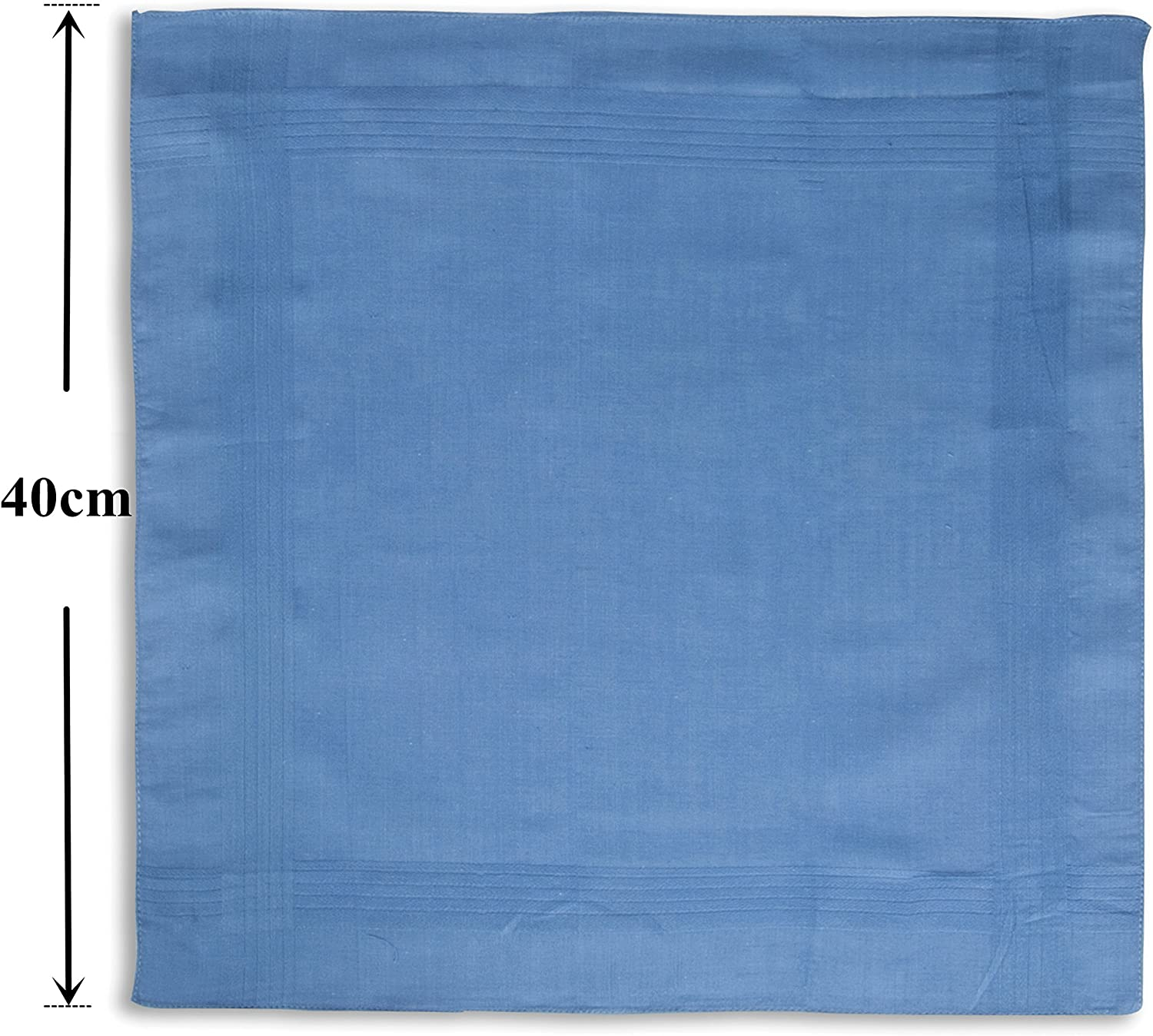 LULUSILK 100/% Pure Cotton Handkerchiefs with Stiching Assorted Color