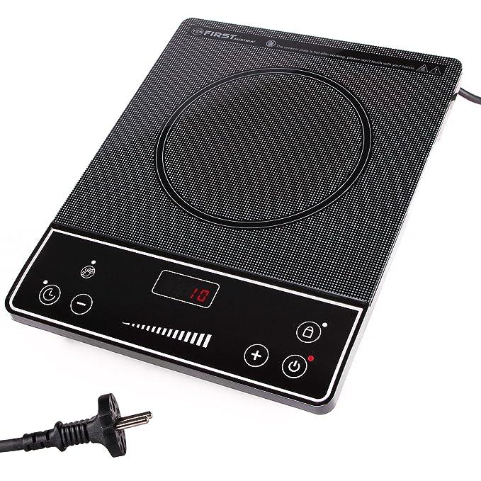 Placa eléctrica de cocción | Cocina eléctrica portatil | infrarroja | 2000 W | cualquier tipo batería de cocina | Placa cerámica | Temporizador | ...