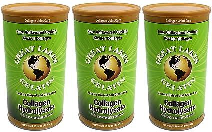 Los Grandes Lagos gelatina, Colágeno hydrolysate (Kosher) 16-ounce