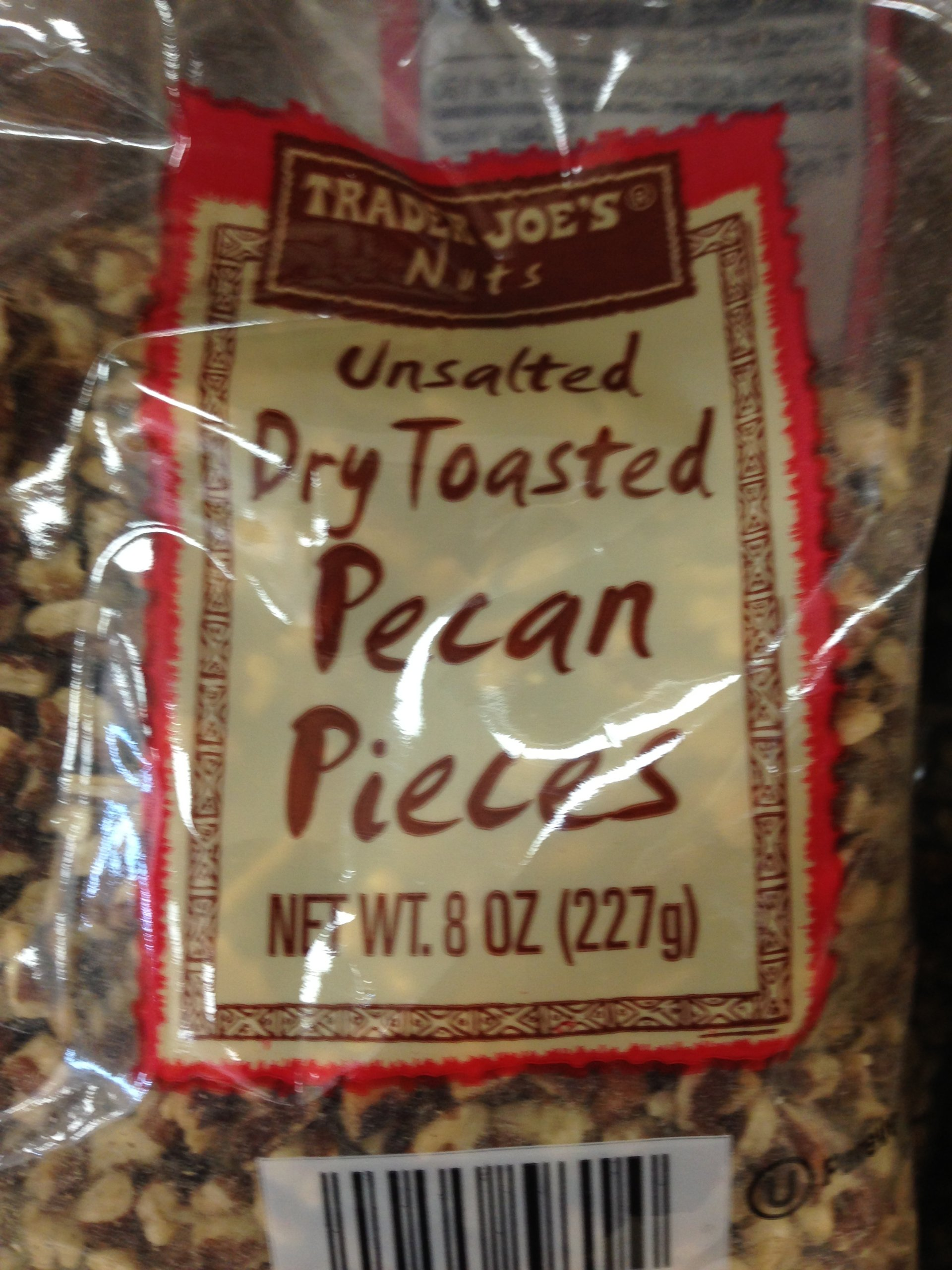 Trader Joe's Unsalted Dry Toasted Pecan Pieces (Pack of 2)