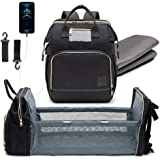 Baby Diaper Bag Backpack and Changing Station - All-in-one portable diaper changing station, and baby diaper bag